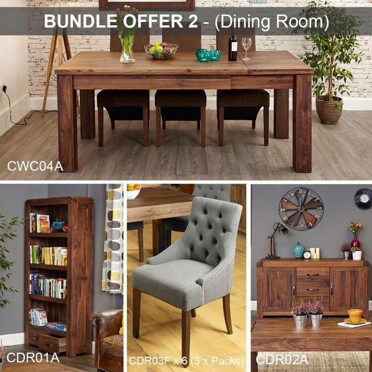 Shiro Walnut Furniture Dining Room Package