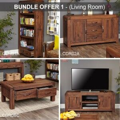 Shiro Walnut Furniture Living Room Package
