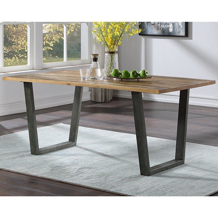 Urban Elegance Reclaimed Wood Furniture 180cm Fixed Top Dining Table