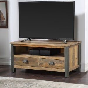 Urban Elegance Reclaimed Wood Furniture Widescreen TV Cabinet