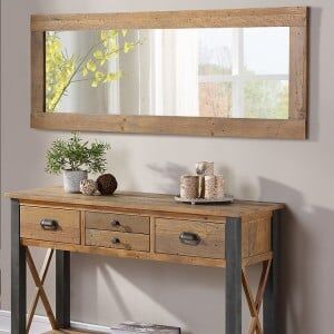 Urban Elegance Reclaimed Wood Furniture Extra Long Wall Mirror