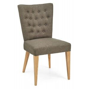 Bentley Designs High Park Upholstered Chair - Black and Gold