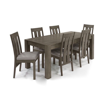 Bentley Designs Turin Dark Oak Large Extending Table & Slatted Chairs