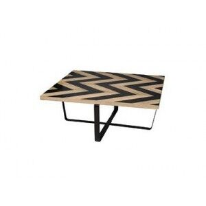 Besp-Oak Contemporary Sofas Harlow Black Wave Collection Coffee Table