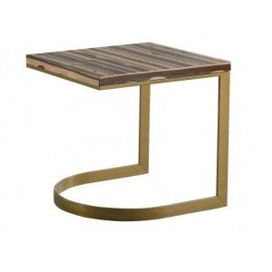 Besp-Oak Contemporary Sofas End Table with Silver Legs