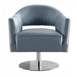 Besp-Oak Contemporary Sofas Grey Circle Stitch Swivel Chair