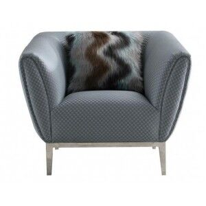 Besp-Oak Contemporary Sofas Grey Circle Stitch Chair