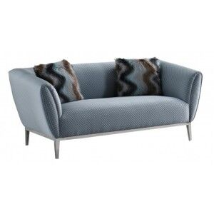Besp-Oak Contemporary Sofas Grey Circle Stitch 2-Seater Sofa