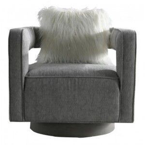Besp-Oak Contemporary Sofas Grey Armchair with Cushion