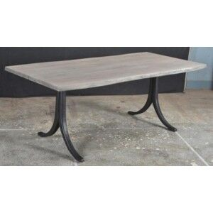 Besp-Oak Oslo Furniture Sandblasted Grey Casting Dining Table