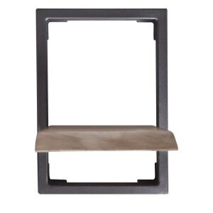 Arkwright Industrial Furniture Iron And Wood Single Shelf