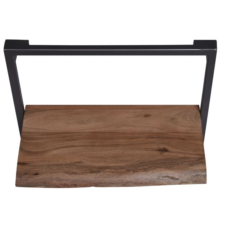 Arkwright Industrial Furniture Iron And Wood Large Single Shelf