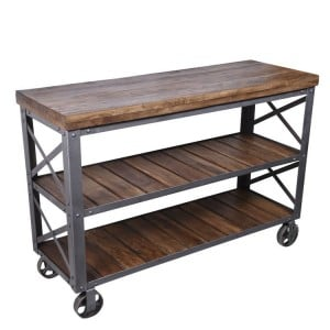 Arkwright Industrial Furniture Console Table With 2 Shelves