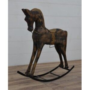 Eclectic Furniture Large Wooden Rocking Horse
