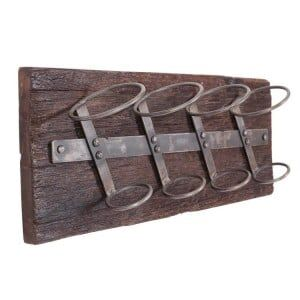 Eclectic Reclaimed Wood Furniture Wall Mounted Wine Rack