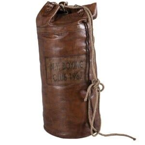 Eclectic Vintage Style Furniture Leather Punch Bag