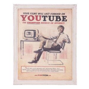Eclectic Furniture Vintage Inspired YouTube Framed Print