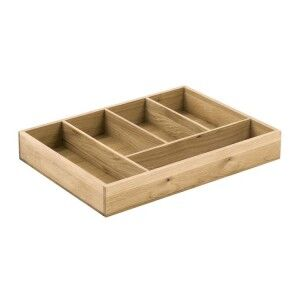 Handmade Oak Kitchens Furniture 5 Storage Compartment Cutlery Tray