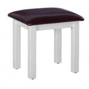 Rosa Painted Range Black Faux Leather Dressing Table Stool