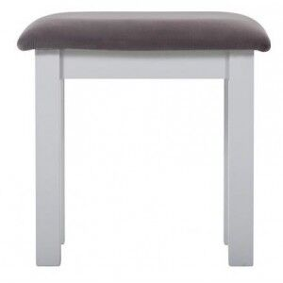 Rosa Painted Range Slate Fabric Seat Dressing Table Stool