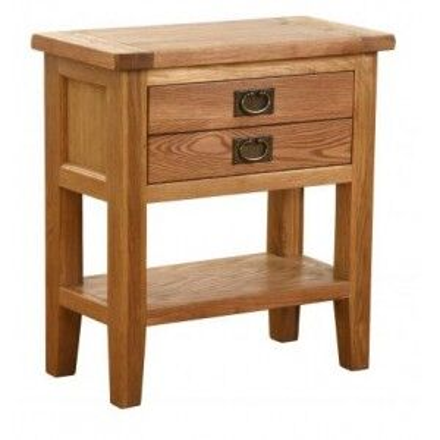 Vancouver Petite Oak Range 1 Drawer Console Table