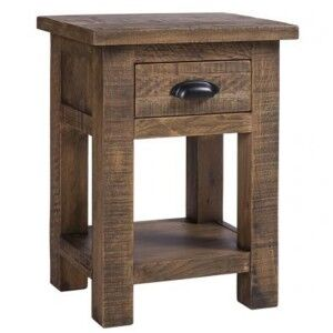 Vancouver Sawn Old Oak Furniture 1 Drawer Bedside Table