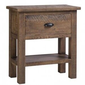 Vancouver Sawn Old Oak Furniture 1 Drawer Console Table