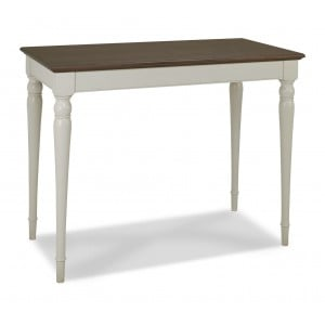 Hampstead Soft Grey & Walnut Furniture Bar Table with Turned Legs