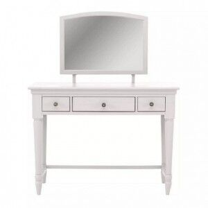 Corndell Annecy White Painted Dressing Table with Mirror