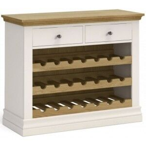 Corndell Annecy Smoke Grey Painted Wine Unit