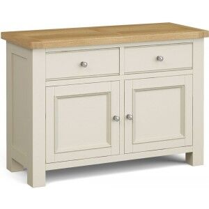 Corndell Daylesford Oak and Ivory Painted 2 Door 2 Drawer Small Sideboard