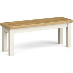 Corndell Daylesford Oak and Ivory Painted Large Bench