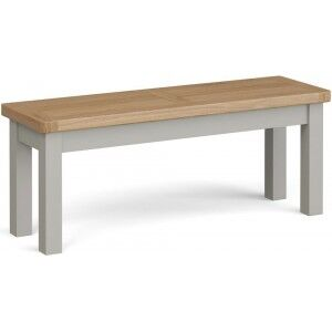 Corndell Daylesford Oak and Pebble Grey Painted Large Bench