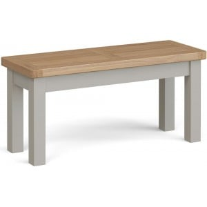 Corndell Daylesford Oak and Pebble Grey Painted Small Bench