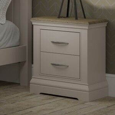 Cobble Grey Painted Furniture 2 Drawer Bedside Cabinet