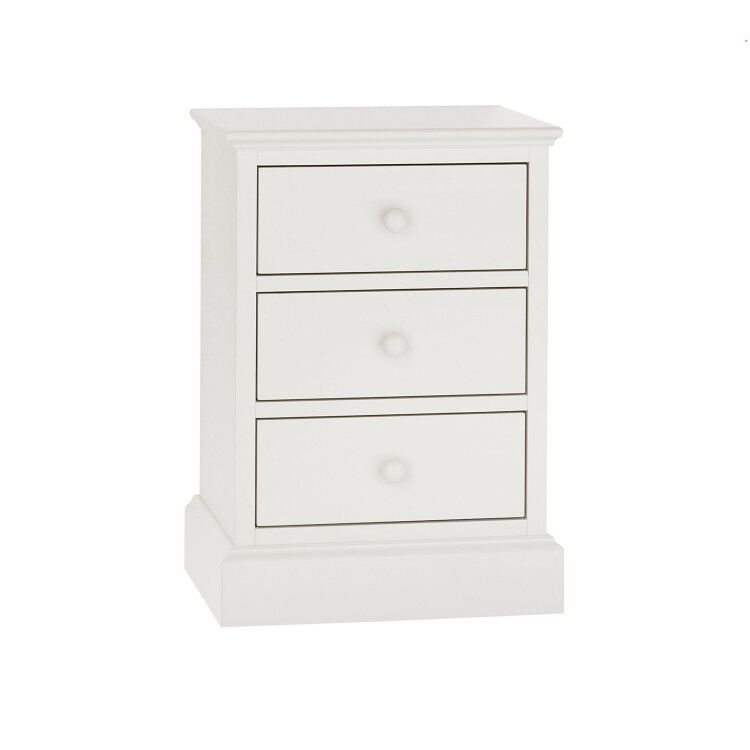 Ashby White Painted Furniture 3 Drawer Nightstand