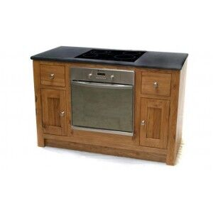 Evelyn Oak Kitchen Oven Unit with 2 Doors & 2 Drawers