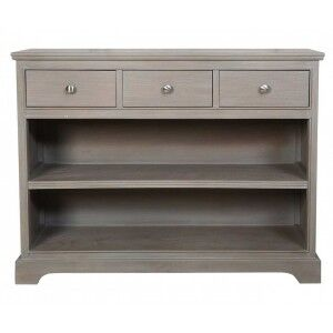 Kavanagh Taupe Painted Console Table with Shelves