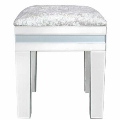 Grey Midtown Mirror Dressing Table Stool