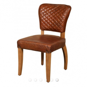 Additions Furniture Arden Vintage Brown Leather Dining Chair (Pair)