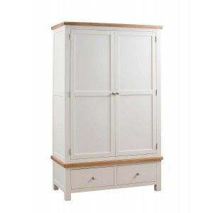 Devonshire Dorset Ivory Painted Furniture Gents Double Wardrobe