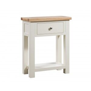 Devonshire Dorset Ivory Painted Furniture 1 Drawer Console Table