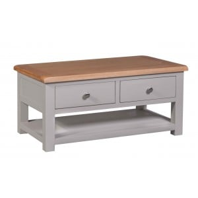 Diamond Solid Oak Grey Painted Furniture Coffee Table