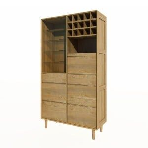 Scandic Solid Oak Furniture Drinks Cabinet