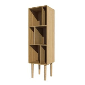 Scandic Solid Oak Furniture Narrow Cabinet