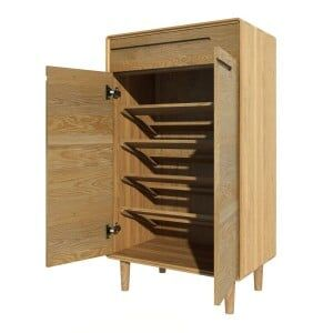 Scandic Solid Oak Furniture Shoe Cupboard