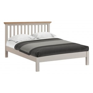 Cotswold Solid Oak Cream Painted Furniture 4ft6 Double Bed