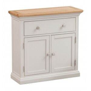 Cotswold Solid Oak Cream Painted Furniture Occasional Cupboard