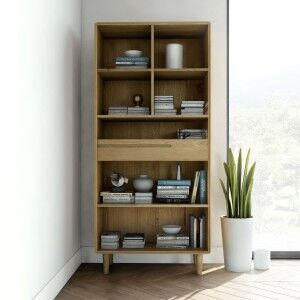 Scandic Solid Oak Furniture Large Bookcase