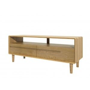 Scandic Solid Oak Furniture Medium TV Unit